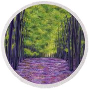 Bluebells And Daydreams Round Beach Towel