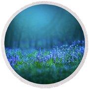 Bluebells Flowers Round Beach Towel