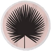Blush Pink Chimaeras Leaf Round Beach Towel