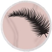 Blush Pink Leaf II Round Beach Towel