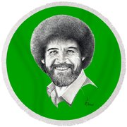 Bob Ross Round Beach Towel