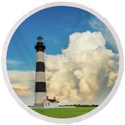 Bodie Island Lighthouse  Round Beach Towel