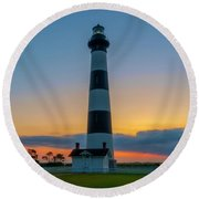 Round Beach Towel featuring the photograph Bodie Island Lighthouse, Hatteras, Outer Bank by Cindy Lark Hartman