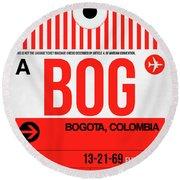 Bog Bogota Luggage Tag I Round Beach Towel