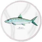 Bonefish Round Beach Towel