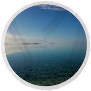 Bonefish Flats, Great Exuma Round Beach Towel