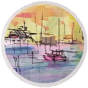 Boothbay 2  Round Beach Towel