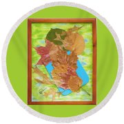 Bouquet From Fallen Leaves Round Beach Towel