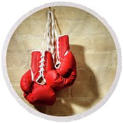 Boxing Gloves Round Beach Towel
