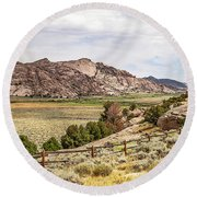 Breathtaking Wyoming Scenery Round Beach Towel