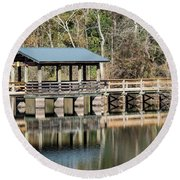 Brick Pond Park - North Augusta Sc Round Beach Towel