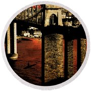 Bridge II Round Beach Towel