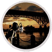 Bridge Iv Round Beach Towel