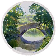 Bridge Over Gypsy Race Round Beach Towel