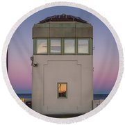 Bridge Tender's Tower Round Beach Towel