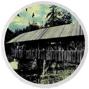 Bridge V Round Beach Towel
