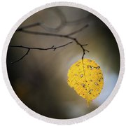 Bright Fall Leaf 7 Round Beach Towel