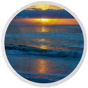 Brilliant Sunrise Round Beach Towel