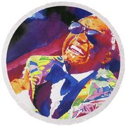 Brother Ray Charles Round Beach Towel