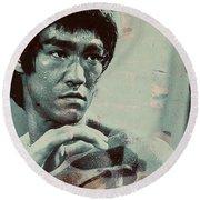 Bruce Lee Round Beach Towel
