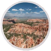 Bryce Canyon Trail Round Beach Towel