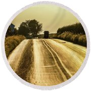 Buggy At Golden Hour Round Beach Towel