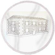 Building Blocks Mk 1 Round Beach Towel