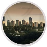 Burnaby Dusk Round Beach Towel