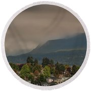 Burnaby Mountain Round Beach Towel