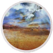 Round Beach Towel featuring the photograph Burning Sand  by Leigh Kemp