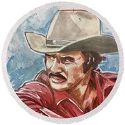 Burt Reynolds Round Beach Towel