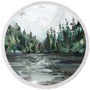 Burton Lake Round Beach Towel