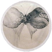 Butterfly For Jeffrey Round Beach Towel