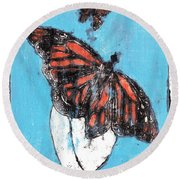 Butterfly Garden Summer 1 Round Beach Towel