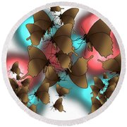 Butterfly Patterns 11 Round Beach Towel