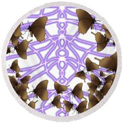 Butterfly Patterns 14 Round Beach Towel