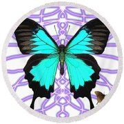 Butterfly Patterns 18 Round Beach Towel
