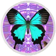 Butterfly Patterns 19 Round Beach Towel