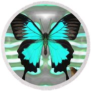 Butterfly Patterns 24 Round Beach Towel