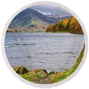 Buttermere Lake District Round Beach Towel