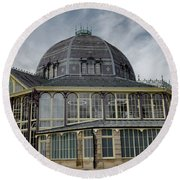 Buxton Octagon Hall At The Pavilion Gardens Round Beach Towel
