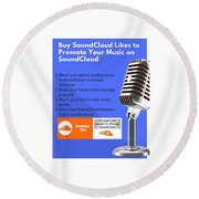 Soundcloud Round Beach Towels | Fine Art America