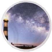 By Dawn's Early Light Round Beach Towel