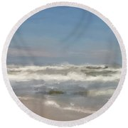 By The Sea, By The Sea Round Beach Towel