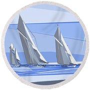 C-class Yachts Round Beach Towel