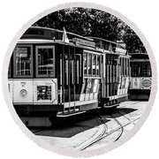 Cable Cars Round Beach Towel