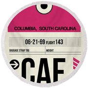 Cae Columbia Luggage Tag I Round Beach Towel