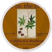 California Buckeye Round Beach Towel