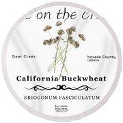 California Buckwheat Round Beach Towel