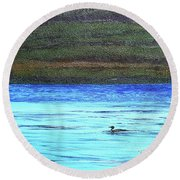 Call Of The Loon Round Beach Towel